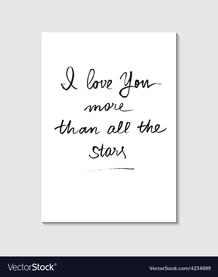 Handwritten love poster vector | Price: 1 Credit (USD $1)