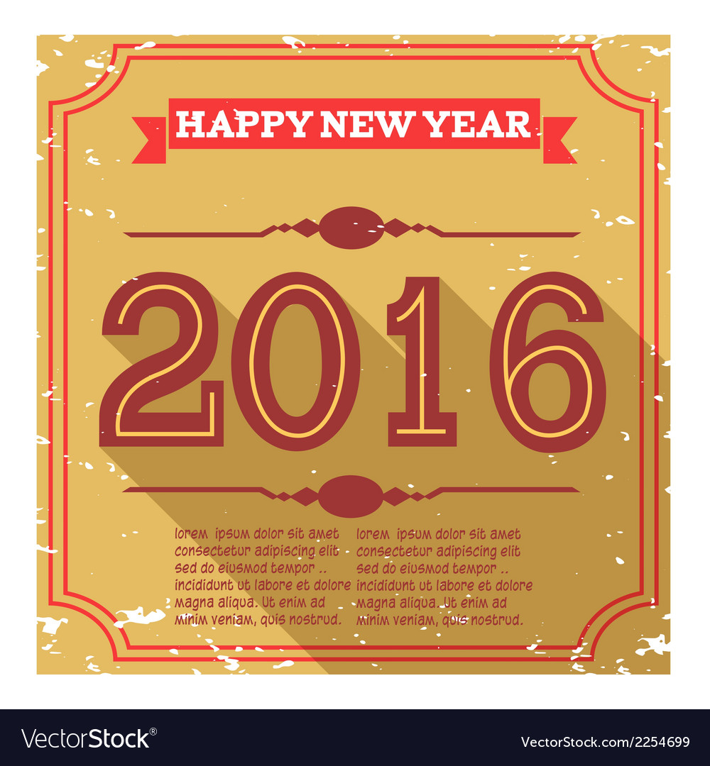 Happy new year 2016 vector | Price: 1 Credit (USD $1)