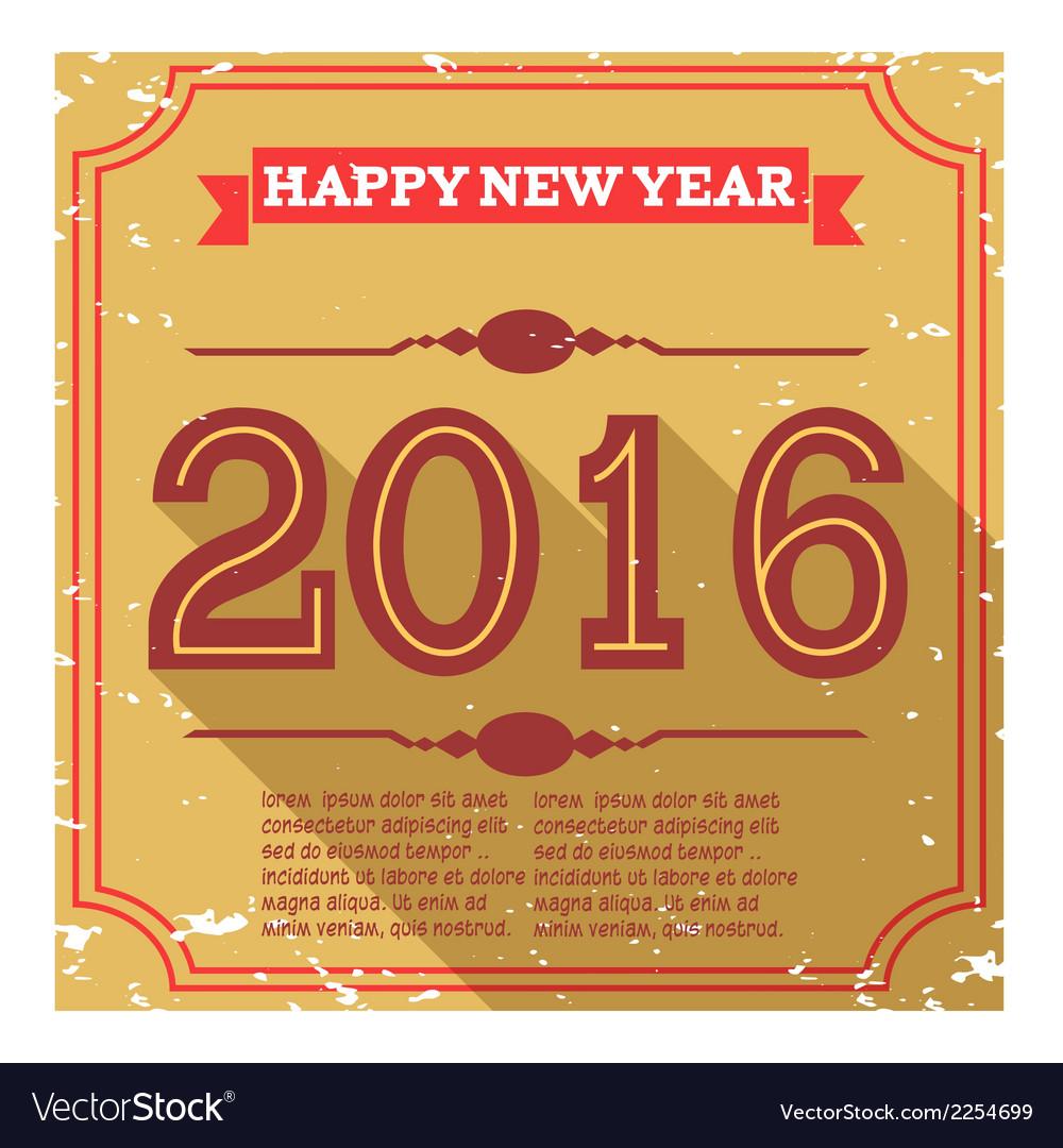 Happy new year 2016 vector | Price: 1 Credit (USD $1)
