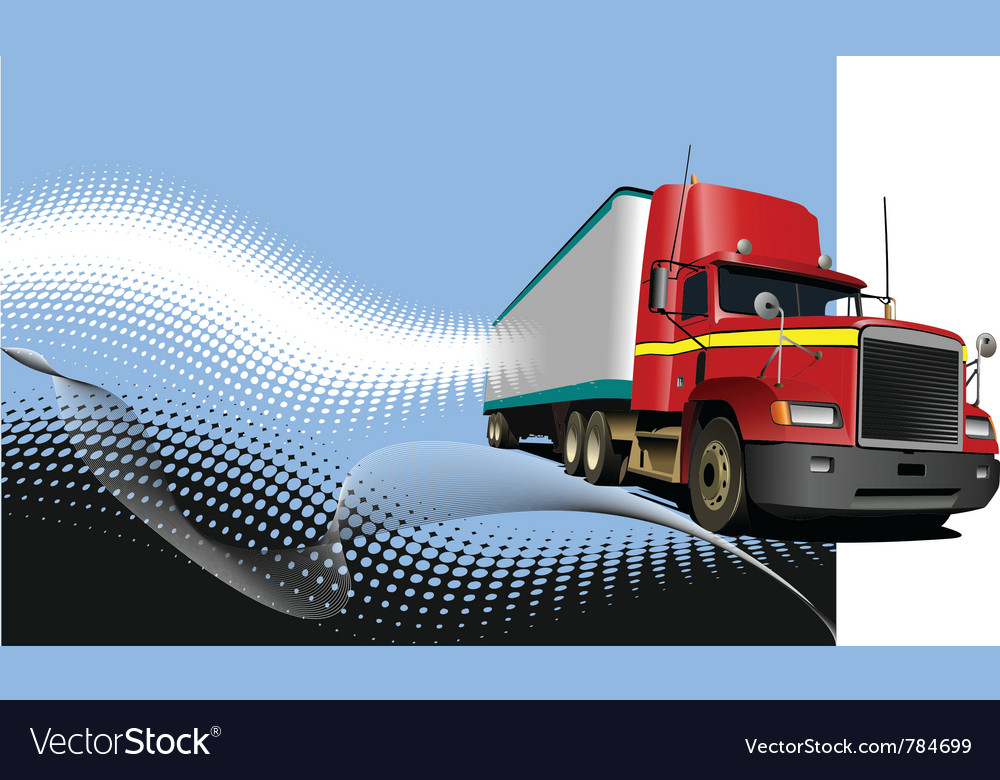 Truck background vector | Price: 1 Credit (USD $1)