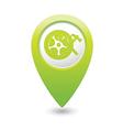 Car wheel service icon on green map pointer vector