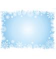 Grunge snowflake border vector