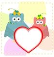 Cute love owl vector