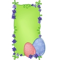 Easter banner with text field vector