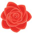 Scarlet rose vector