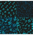Musical notes seamless patterns vector
