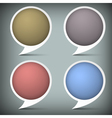 Paper round bubble for speech vector