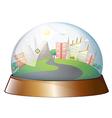 A dome designed city vector