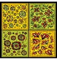 Seamless decorative floral scrolls patterns vector