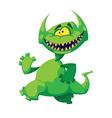 Monster smile vector