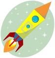 Flight of the space rocket vector