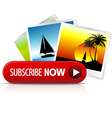 Big red subscribe now button vector