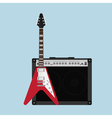 Guitar amplifier guitar vector