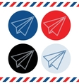 Paper plane icons on white background vector