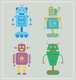 Cute robots set vector