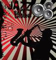 Jazz music background vector