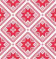 Seamless ukrainian slavic folk art red pattern vector