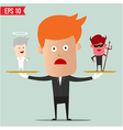 Business man select choice - - eps10 vector