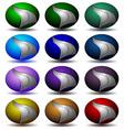 Techno logos isolated set vector