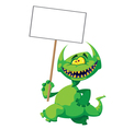 Monster smile with a sign vector