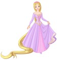 Princess rapunzel vector