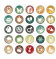 Circle buttons vector