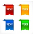Color labels stickers text vector