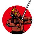 Samurai warrior mascot vector
