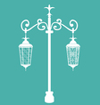 Vintage forging ornate streetlamps isolated vector