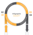 Infographic in a circle shape vector