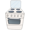 Cartoon home kitchen stove vector
