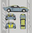 Speed car turbo vector