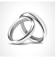 Silver rings isolated on white background vector
