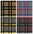 Tartan fabric seamless pattern set vector