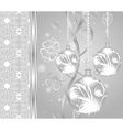 Elegant christmas background with baubles - vector