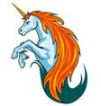 Magic unicorn horse vector
