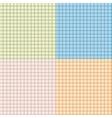 Set of seamless tartan pattern vector