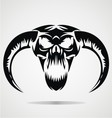 Scary demon skulls vector
