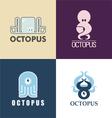 Symbols octopus vector