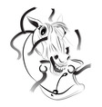 A horse a symbol of 2014 vector