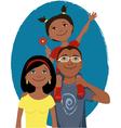 Happy cartoon family portrait vector