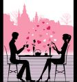 Cafe couple vector