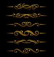 Golden vintage divider vector