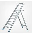 Cartoon home ladder vector