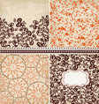 4 patterns set vector