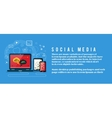 Cloud of application icons social media vector