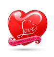 Heart love red glossy symbol beautiful glossy vale vector