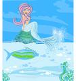 A beautiful mermaid vector
