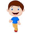 Little boy cartoon walking vector