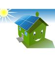 Solar house vector